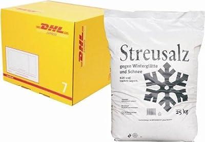 25 kg Qualitäts-Streusalz - Steinsalz gegen Winterglätte und Schnee