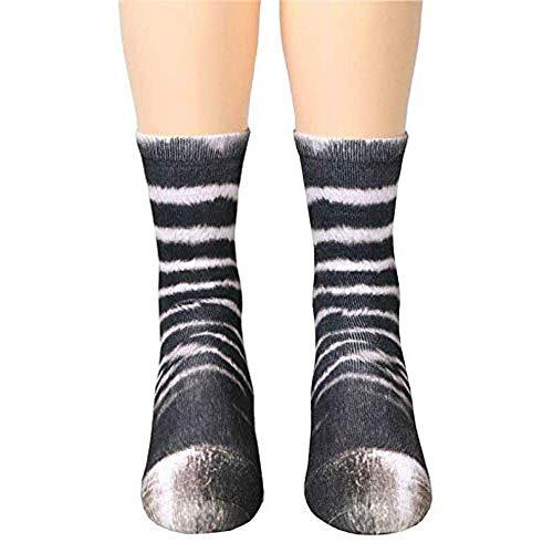 Urkomische Kostüm - Popluxy Animal Socks 3D Print Paw Socken für Erwachsene Unisex Kids für Coslpay Kostüm Neuheit Socken Animal Claw Socken