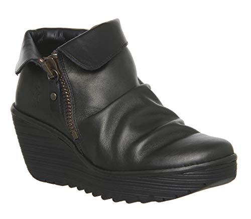 FLY London Women's Yoxi755 Cuffed Collar Ankle Boot UK7 - EU40 - US9 - AU8 Bronze -