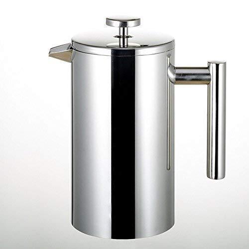 BAOWEN Cup / 1 Liter Kaffeebereiter Französisch Presse Kaffee-Tee-Maschine, Unbreakable 304 Edelstahl Doppelwand Insulated Filter-Kaffee Plunger