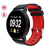 Smartwatch Donna Uomo, Braccialetto Fitness con Full Touch Screen Impermeabile...
