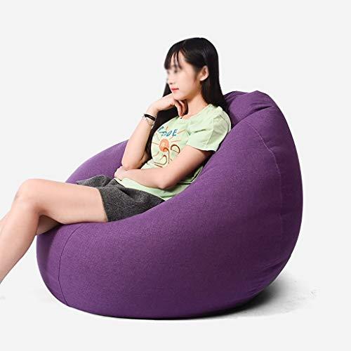 YXNN Bodenkissen - Sitzsack Lazy Couch Inside Spiele Im Freien Lounge Chair Soft Designer Chair Cushion Degradable EPS Fill 90x110cm (Farbe : Lila) (Modernen Outdoor-der Osmanischen)