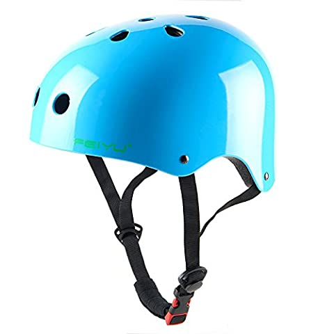 Babimax Adult Cycling Helmet Impact Resistance Ventilation for Multi-sports Cycling Skateboarding Scooter Roller Skating Biking BMX (Bright Blue,