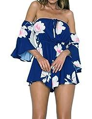 Tefamore Pantalons de survêtement pour femme sans épaules Jupes de plage