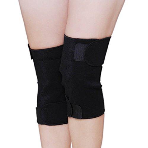 F&HY&L Deportes de turmalina de almohadillas de salud rodilla autocalentables rodilleras terapia magnética infrarrojos calor transpirable elástico de seguridad