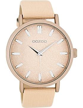 Oozoo Damenuhr mit Lederband 42 MM Apricot/Apricot C8331