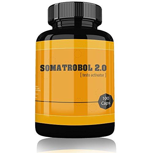 SOMATROBOL 2.0 By Varg Power | Jetzt Mit 100 Muskelaufbau Testosteron Booster Kapseln | Hochdosiert & Stark Wirkend | Unterstützt Fettabbau | Bodybuilding Anabolika Steroide Ersatz für den Mann
