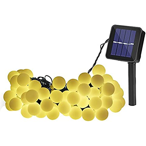 Luces Led Solar 60 LED lamparas Exterior de Decoración, perfecto para Jardín, Fiestas, Boda, Arbol de Navidad, Terraza y al Aire