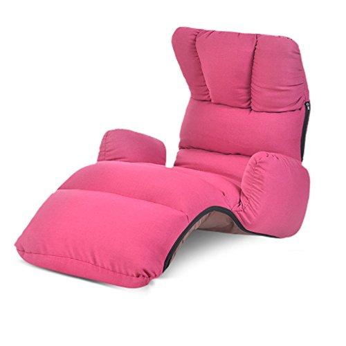 LRSFM Klappstuhl Einzelbüropause Mittagspause Stuhl Betten Tragbarer Lunchstuhl Klappbett Strandbett Camp Bett (Farbe : Rose rot)