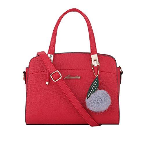 DISSA S884 neuer Stil PU Leder Deman 2018 Mode Schultertaschen handtaschen Henkeltaschen,280×130×200(mm) Rot
