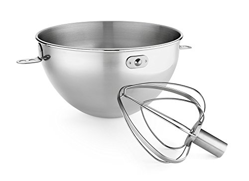 t. Stainless Steel Bowl & Combi-Whip - Fits Bowl-Lift models KV25G and KP26M1X ()
