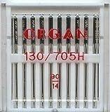 Organ - Aiguilles De Machines À Coudre Domestiques Paquet De 10, Taille 90/14 Sera Adapté Brother, Singer, Janome, Etc.
