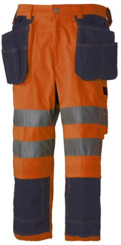 Helly Hansen Workwear, Pantaloni da lavoro a 3/4 Bridgewate Pirate, con catarifrangenti, Arancione (orange) - 34-076493-265, Taglia 62