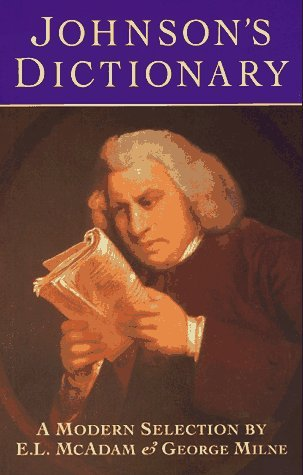 Johnson's Dictionary: A Modern Selection by Samuel Johnson (1995-09-28)