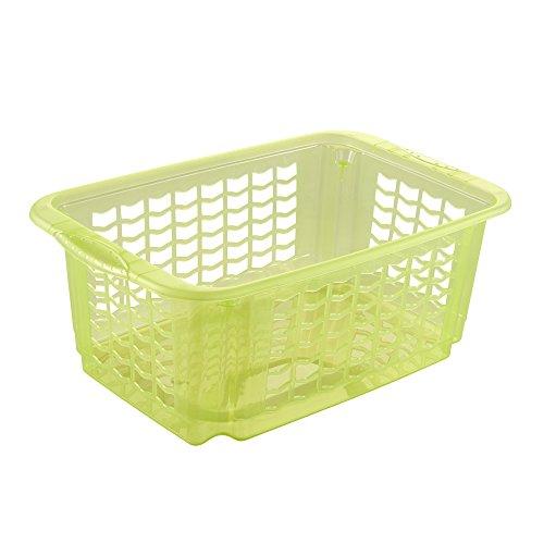 OK Rotating/Stacking Basket, Green/Transparent, Medium