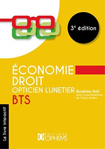 Économie-Droit Opticien Lunetier Bts par Ibrahima Bah