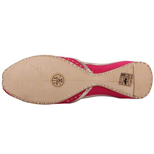 Unze Pelle calzamaglia Handmade tradizionale calcificata 'Calcite' delle donne nuove calde pattini Khussa del pattino 3-8 Fucsia