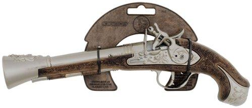 Pistola da pirata finta in metallo giocattolo