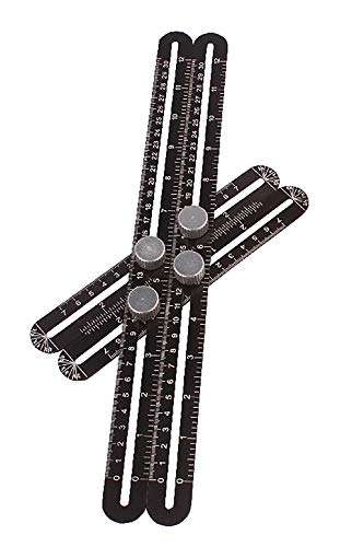 Multifunktions-Quadrat-Lineal-Professionelle Schablone-Werkzeug Winkelmessung Protraktor Aluminium-Legierung Holzbearbeitung Klapp Lineal Förmigen Fliesen