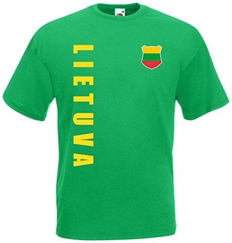 Litauen Lietuva T-Shirt Trikot Wunschname Wunschnummer (Maigrün, XL)