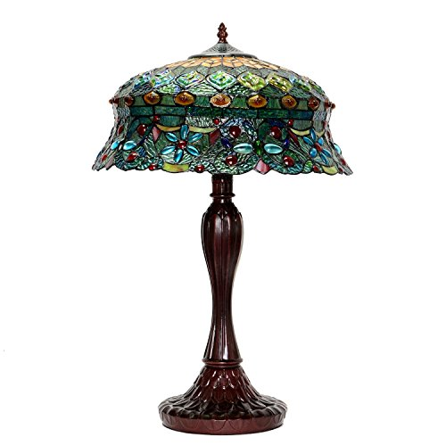 HTdeco - Lampe Tiffany mit glasmalerei rokoko -