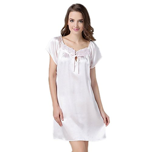 CHUNHUA Frau 100% Seide Pyjama Nachthemd Trainingsanzug C
