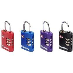 Masterlock RY92815 - Juego de candados de combinación (cierre TSA, 2 x 30 mm, 2 unidades)