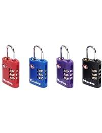 Lot de 2 Cadenas à combinaison pour bagage et valise, cadenas agréé TSA (norme des douanes USA)