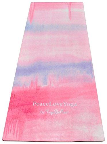 Yogabellies Skinny Alfombrilla para yoga, fabricada con caucho natural, diseño de lujo, para mujer, profesional, de viaje. 1.5mm. Respetuosa con el medio ambiente. Fina. Ligera. Ideal para yoga bikram y ashtanga. -, Soma