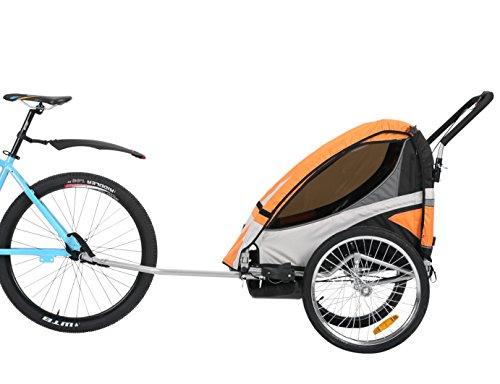 Fiximaster multifunktion 2 in 1 Fahrradanhänger/Jogger Babywagen Jogger Handwagen Orange BT504S NEU