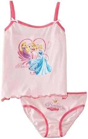 Disney Girls Princess EN3046 Sleeveless Knickers, Pink (Pink Lady/Carmine Rose), 3 Years (Manufacturer Size:2-3 Years)