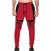 Männer Casual Baggy Jogging Trainingsanzug Bottoms Training Laufen Hosen Nähen Trendy Slim Fit Hosen Mit Kordelzug S-3XL