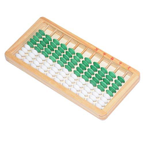Kinder 9 Perlen Abacus, Schieber Kinder Stäbchen Bunte Perlen Holz Abacus Arithmetisch Soroban Kinder Taschenrechner Tool Spielzeug Bildung Holz Serveware