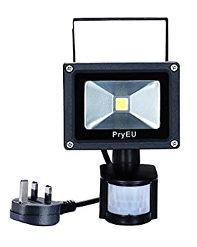 Pryeu outside led spot security flood lights floodlight 10w with pryeu outside led spot security flood lights floodlight 10w with pir motion sensor waterproof 800lm daylight 6000k uk plug in for home garage door yard aloadofball Images