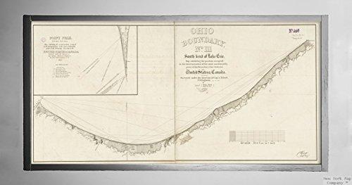 1835Karte Michigan Michigan, Lake Ohio Boundary Nr. 1South Bend der Lake Michigan: Map, exhibiting Historic Antik Vintage Reprint Ready Zum Rahmen (Michigan See Karten)