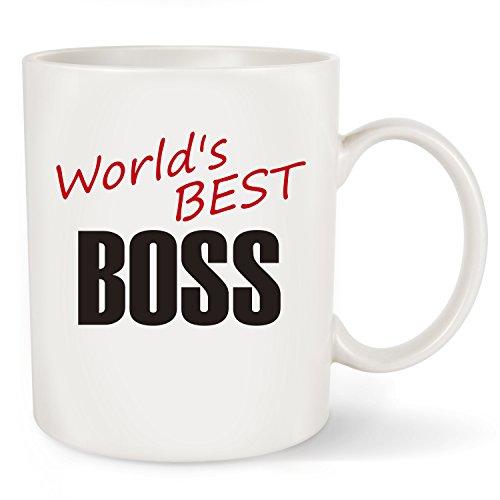La Volupte Gifts World 's Best Boss Funny Kaffee Becher Tee Tasse-Einzigartige Tasse Office & Geburtstag Geschenke für Weihnachten Geschenke Idee für Herren und Damen Herren, Manager und Kollegen