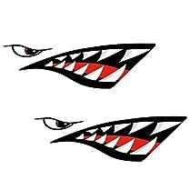 pegatinas boca de tiburon