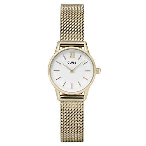 Cluse Unisex Erwachsene Digital Quarz Uhr mit Edelstahl Armband CL50007