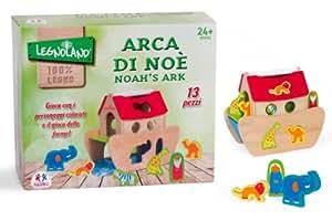 globo toys globo 36591 legnoland arche noah holz spielzeug mit 12 figuren spielzeug. Black Bedroom Furniture Sets. Home Design Ideas