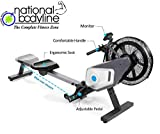 National Bodyline Air Rower, Rowing Machine, Dual Belt Dynamic Air Resistance with Monitor