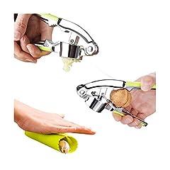 Idea Regalo - AoDi Spremiaglio professionale in Lega di zinco con pelapatate Schiaccianoci