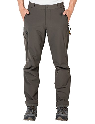 Jack Wolfskin Herren Activate Thermic Pants Men Softshell-Hose, Olive Brown, 98