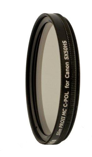 Hs 8000 Serie (Haida Slim Pro II Digital Polfilter Zirkular MC (multicoating) für Canon Powershot SX50 HS inkl. Cap)