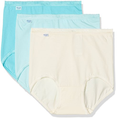 Sloggi Damen Panties Basic + Maxi C3P, Türkis (Turquoise-Light Combination (J7) J7), Gr. 85D (Herstellergröße: 52)