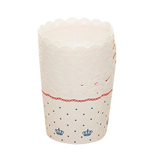 Blancho 96 PCS Tasse de Cupcake de papier de cuisson, Tasse de moule de cupcakes créative #23