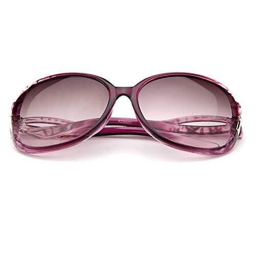 XIAOXINGXING Schmetterling Spiegel Fuß Sonnenbrille Frauen Kunststoff Oval Sonnenbrille Reise UV400 Lunette De Soleil Femme (Lenses Color : Purple)