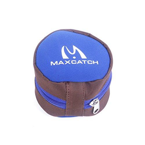 MagiDeal Fliegen Einsatz Angelrolle Schutzbeutelabdeckung Reißverschlusstasche Schwamm