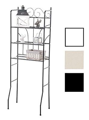 CLP Scaffale Shabby in Ferro PINAR – Scaffale Aperto per Bagno o Lavanderia, ca. 60 x 35 I Scaffale Salvaspazio 3 Ripiani I Mobile Bagno con Mensole Organizer