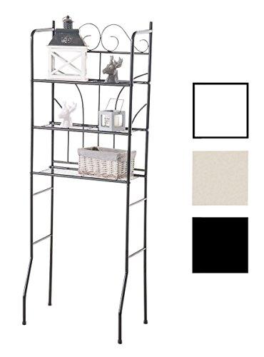 CLP Überbau-Regal Pinar, Eisen Badregal ca. 60 x 35 cm, Höhe 165 cm, 3 Böden, Landhaus-Stil...