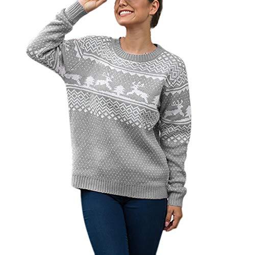 lulupi maglioni natalizi da donna pullover sweatshirt fepla donna invernale tumblr ragazza maglia manica lunga merry christmas tops camicia